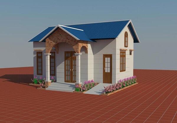 Có nên xây dựng mẫu nhà cấp 4 đẹp giá rẻ 100 triệu ở nông thôn?