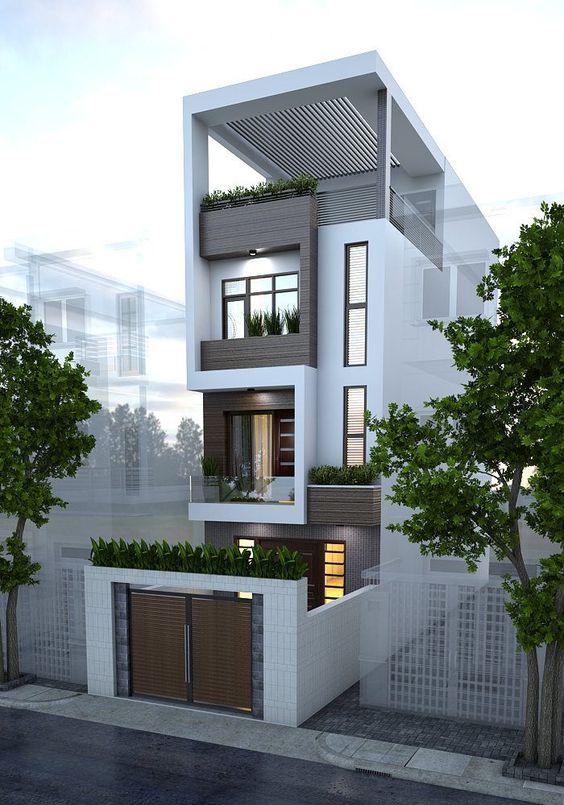 Xây dựng nhà phố 4 tầng 4×16 phong cách hiện đại 2021